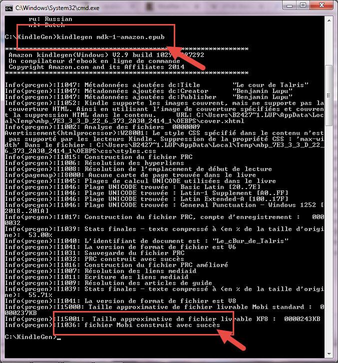 Ebook Convertir Un Fichier Epub En Mobi Avec Kindlegen