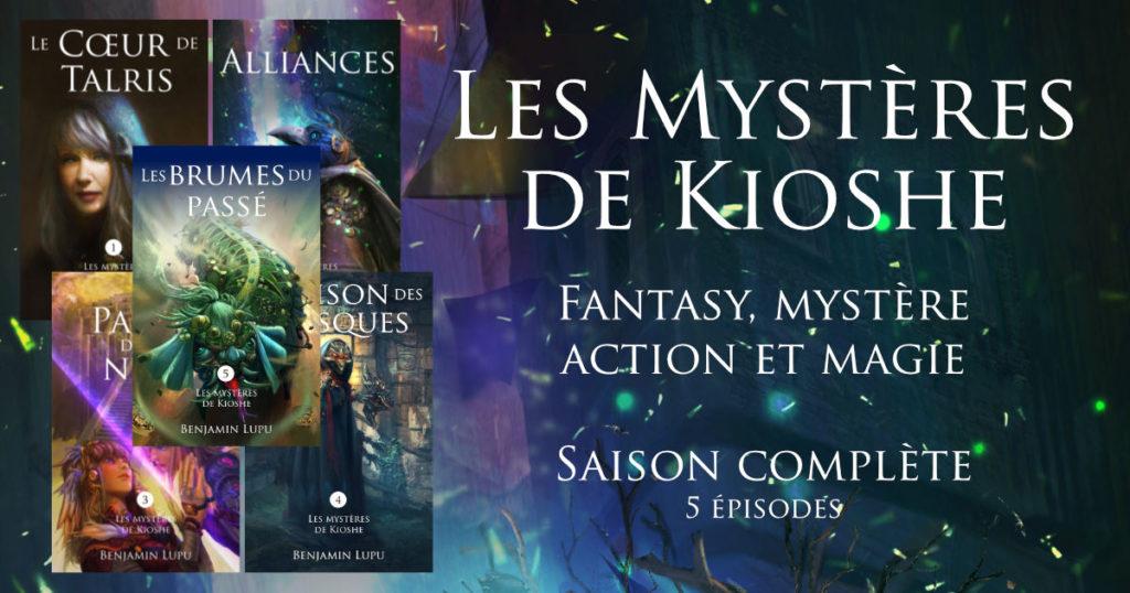 Couvertures des épisodes des Mystères de Kioshe